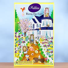 bunny hop chocolate easter calendar grocery
