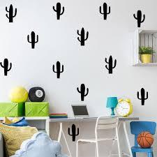 Sederhana kaktus kreatif diy self adhesive stiker mural kamar tidur