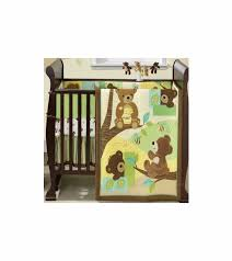 Green And Brown Crib Bedding by Bedtime Originals Honey Bear 3 Piece Crib Bedding Set