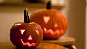 halloween pumpkin desktop wallpaper two halloween pumpkins hd wallpaper