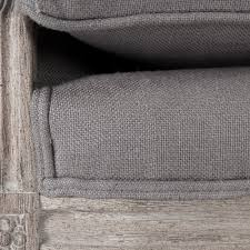 Grey Linen Sofa by Modern Grey French Louis Sofa Gray Linen Upholstery