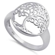 sterling rings images Sterling silver tree of life ring for sale sterling silver rings png