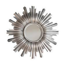 mirror shapes sunburst linden large wall mirror