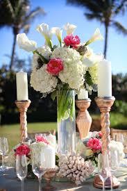 wedding reception ideas table decorations gold beach wedding
