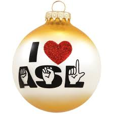 i love asl glass ornament hobbies christmas ornaments