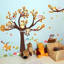 3d cartoon animals wall stickers kindergarten kid playroom