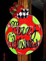 ornament wood cut out door hanger by thewaywardwhimsy