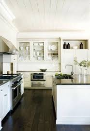 White Kitchen Dark Floors by Interior Dark Wood Floors In Kitchen With Marvelous Dark Floors