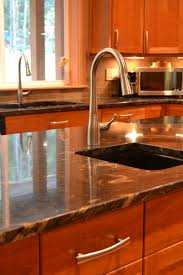 Granite Countertops With Cherry Cabinets Tag For Kitchen Cherry Cabinets Gray Granite Countertops C B I D