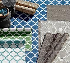 Reversible Rugs Becca Tile Reversible Indoor Outdoor Rug Blue Pottery Barn