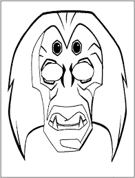 mardi gras mask coloring pages printable frog mask lion mask 999