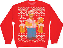 homer simpson faux ugly christmas sweater homer simpson ugliest