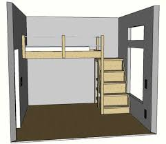Plans For Loft Beds With Stairs by Full Sized Loft Bed Need This Someday For The Boys Rooms