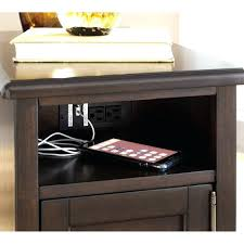 side table with power outlet c table with power and outlets modern end tables outlet living