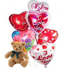teddy bears for valentines day s day balloons 6 mylar balloons