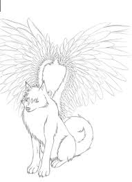 Winged Wolf Coloring Pages Wolf Pack Coloring Pages