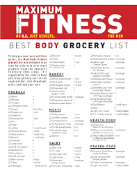 grocery guide grocery list for weight loss grocery list template
