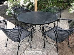 wrought iron patio table and chairs mid century salterini russell woodard wrought iron patio set woodard