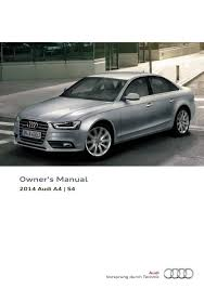 2014 audi a4 s4 u2014 owner u0027s manual u2013 296 pages u2013 pdf