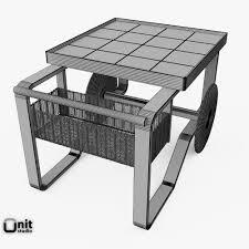 Bunnings Outdoor Furniture 3d Tea Trolley 900 By Alvar Aalto Cgtrader