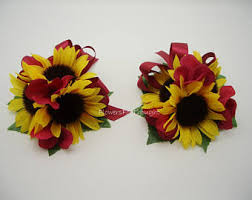 sunflower corsage sunflower corsage burlap twine country rustic bridal