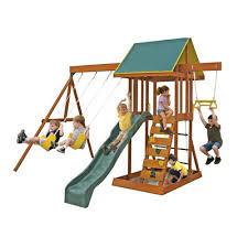 Backyard Adventures Reviews Big Backyard Wooden Swing Set U0026 Reviews Wayfair