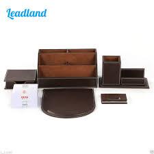 Pencil Holder For Desk Leather Desk Business Card Reviews Online Shopping Leather Desk