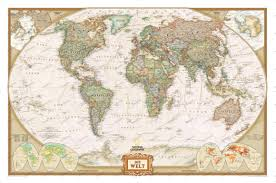 Global Time Zone Map World Map Poster Framed Or As Bulletin Board