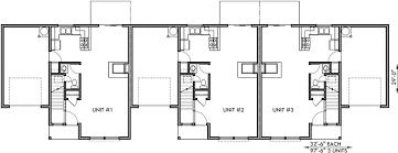 Floor Plan With Garage Triplex House Plan Triplex Plan W Garage Townhouse Plan T 396