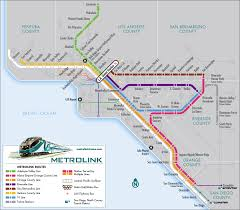 Los Angeles Airport Map by Los Angeles Regional Rail Map