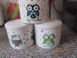 Owl Canisters by Owl Cookie Jar And Bone China Owl Canisters In Cuddington