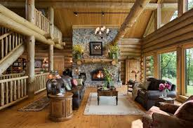 log home open floor plans the home s open floor plan includes a central great room with a