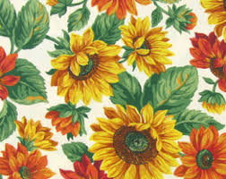 Sunflower Valance Curtains Sunflower Valance Etsy