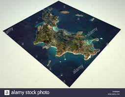 St Barts Island Map by 3d Section Of St Barts Island Satellite View Map Element Of This