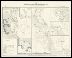 Map Of The Red Sea Admiralty Chart Of The Harbour U0027s And Anchorages In The Red Sea