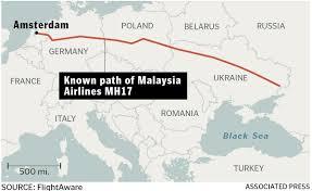 Flight Path Map Known Flight Path Of Mh17