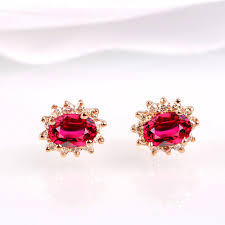 s diamond earrings robira classic princess diana s stud earring 18k prong