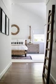 seagrass bed with gray nightstand cottage bedroom