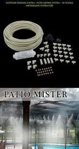 Best Patio Mister System Best 25 Outdoor Misting Fan Ideas On Pinterest Outdoor Fans