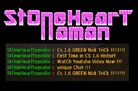 cs 1 6 green nick name trick first time in cs 1 6 history 100