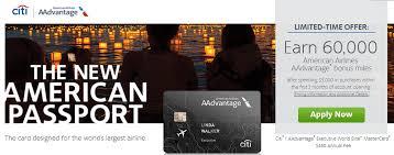 elite prepaid card citi aadvantage executive 60 000 after 5 000 spend w 450