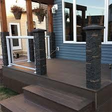 slatestone post covers by nextstone decksdirect