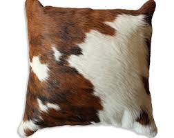 Cowhide Pillows Cowhide Pillow Etsy