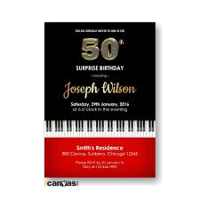 piano birthday invite 30th 40th 50th 60th 70th 80th musical
