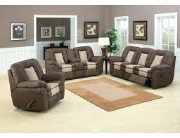 Reclining Living Room Set Living Room Sets With Recliners Chocolate Leather Reclining