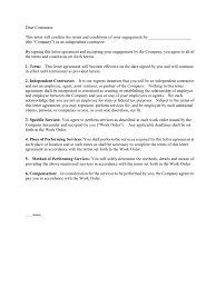 Contract Termination Notice Subcontractor Agreement Template Indemnity Employment
