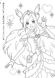 pretty cure coloring pages color pages pretty cure