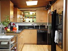 great small kitchen design for apartment exposed classic wooden