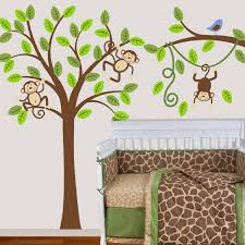 28 monkey wall stickers for nursery monkey wall decal for monkey wall stickers for nursery tree wall decal monkey nursery kids removable wall vinyl decal