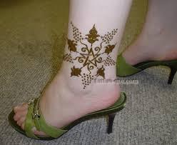 flower ankle henna tattoo tattoo me